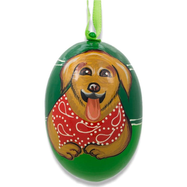 Puppy Golden Retriever Dog Wooden Christmas Ornament 3 Inches by BestPysanky