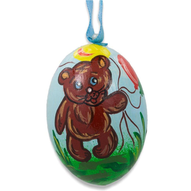 Teddy Bear and Cat Party Wooden Christmas Ornament 3 Inches by BestPysanky