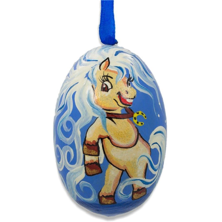 Pony Horse Wooden Christmas Ornament 3 Inches by BestPysanky