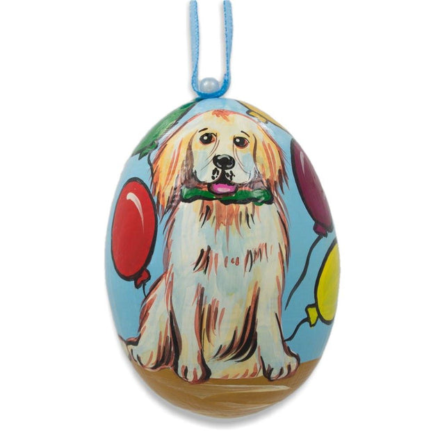 Labrador Retriever Dog with Balloons Wooden Christmas Ornament 3 Inches by BestPysanky