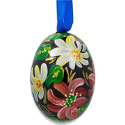 Colorful Flowers Wooden Egg Easter Ornament 3 Inches by BestPysanky