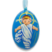 Jesus The Newborn King Wooden Christmas Ornament 3 Inches by BestPysanky