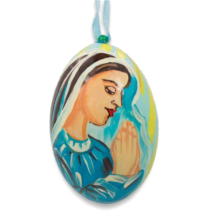 Virgin Mary Nativity Scene Wooden Christmas Ornament 3 Inches by BestPysanky