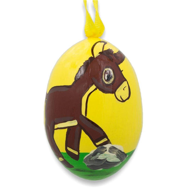 Donkey Wooden Christmas Ornament 3 Inches by BestPysanky