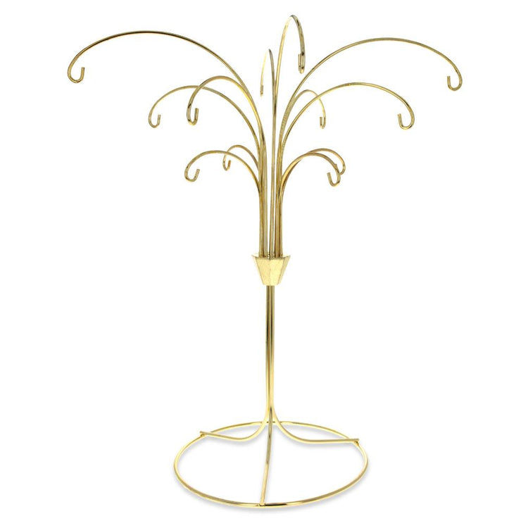 Tree Branches Gold Tone Metal 12 Ornaments Stand 12 Inches
