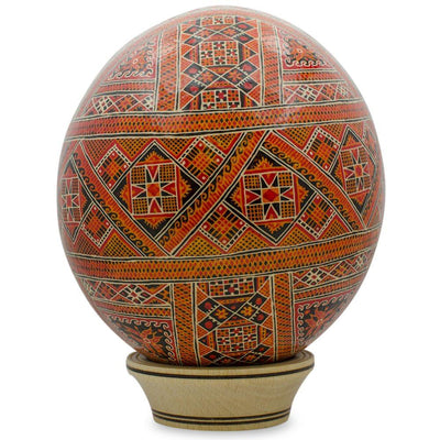 Senechiv Ostrich Size Real Blown Easter Egg Pysanky by BestPysanky