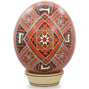 Kozova Ostrich Size Real Blown Easter Egg Pysanky by BestPysanky