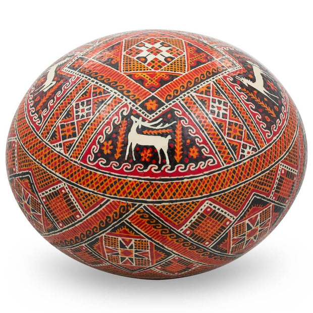 Buy Online Gift Shop Kozova Ostrich Size Real Blown Easter Egg Pysanky