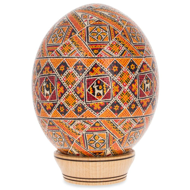 Rososh Ostrich Size Real Blown Easter Egg Pysanky by BestPysanky