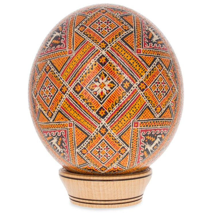 Bereznyky Ostrich Size Real Blown Easter Egg Pysanky by BestPysanky