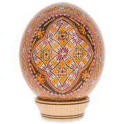 Lysychovo Ostrich Size Real Blown Easter Egg Pysanky by BestPysanky