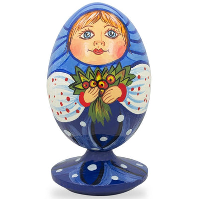 Russian Doll Matryoshka with Flower Bouquet Wooden Figurine by BestPysanky
