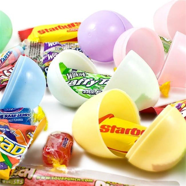 "BestPysanky Easter Eggs > Plastic Easter Eggs > With Candy - 2.25"" Set of 12 Plastic Easter Eggs with Premium Candy"