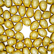 Set of 6 Very Shiny Golden Plastic Easter Eggs 2.25 Inches