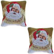 Set of 2 Believe in Santa Christmas Cushion Throw Pillow Covers by BestPysanky