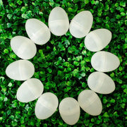 Set of 24 White Plastic Easter Eggs 2.25 Inches