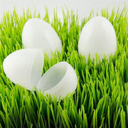 "BestPysanky Easter Eggs > Plastic Easter Eggs > Blank - 2.25"" Set of 24 Blank White Plastic Easter Eggs"