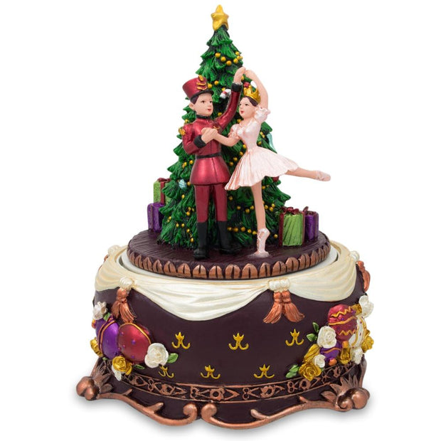 Ballerina Dancing with Nutcracker Spinning Musical Christmas Figurine by BestPysanky