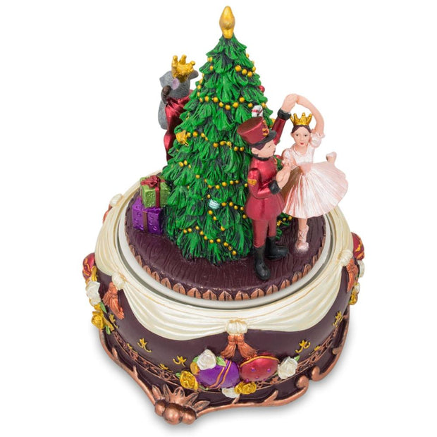 Nutcracker and Dancing Ballerina Christmas Music Box