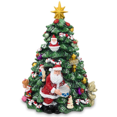 Santa with Drum Spinning Musical Tabletop Christmas Tree Figurine by BestPysanky