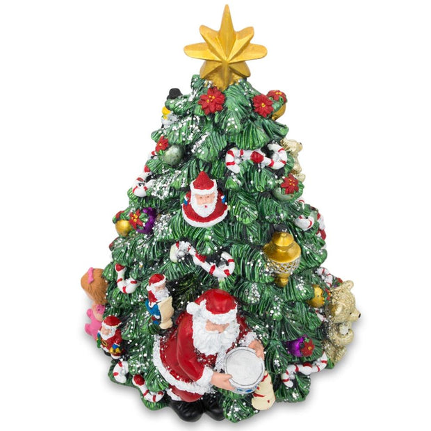 Buy Online Gift Shop Santa with Drum Spinning Musical Tabletop Christmas Tree Figurine