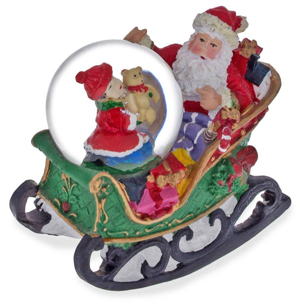 Buy Online Gift Shop Santa on a Rocking Sleigh Water Snow Globe