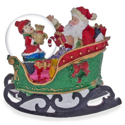Santa Rocking Sleigh Water Snow Globe by BestPysanky