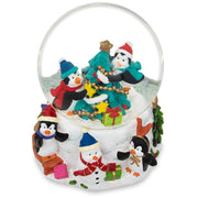Buy Online Gift Shop Penguins Decorating Christmas Tree Water Snow Globe
