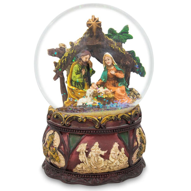 Silent Night Music Nativity Scene Snow Globe by BestPysanky