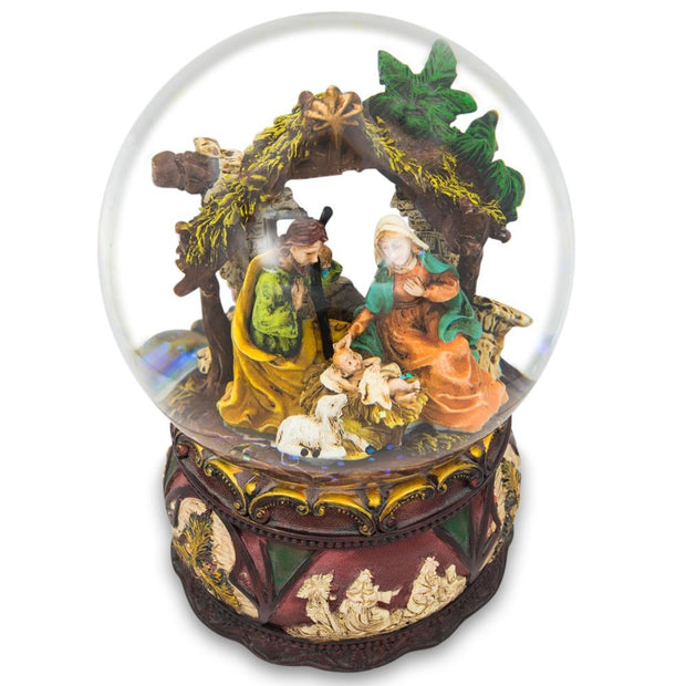 Buy Online Gift Shop Silent Night Music Nativity Scene Snow Globe