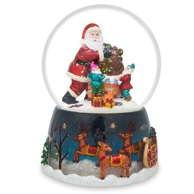 Elves Helping Santa Musical Water Snow Globe by BestPysanky