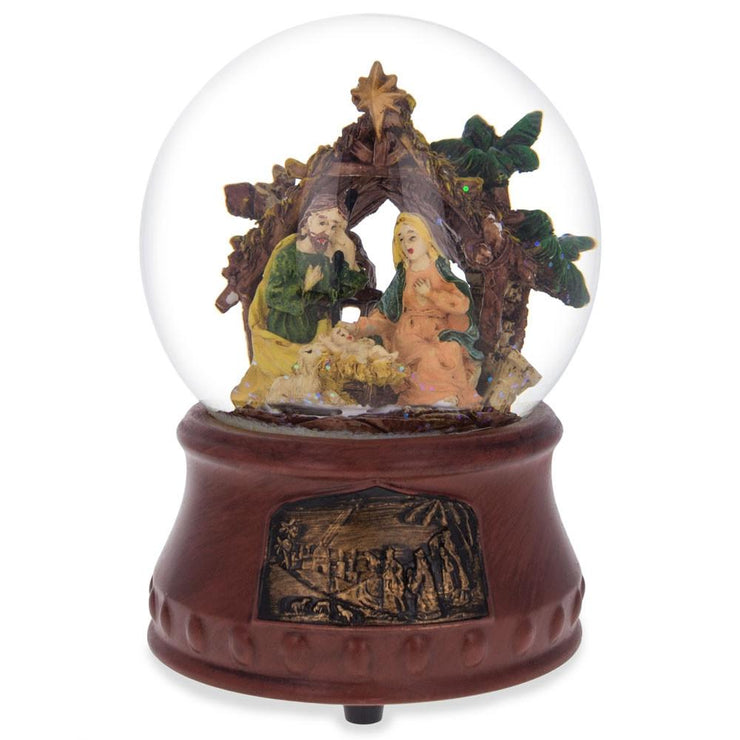"Nativity Scene with ""Silent Night"" Music Box Water Snow Globe by BestPysanky"