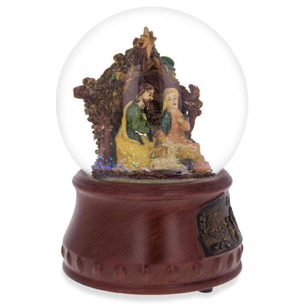 "Buy Online Gift Shop Nativity Scene ""Silent Night"" Music Snow Globe"