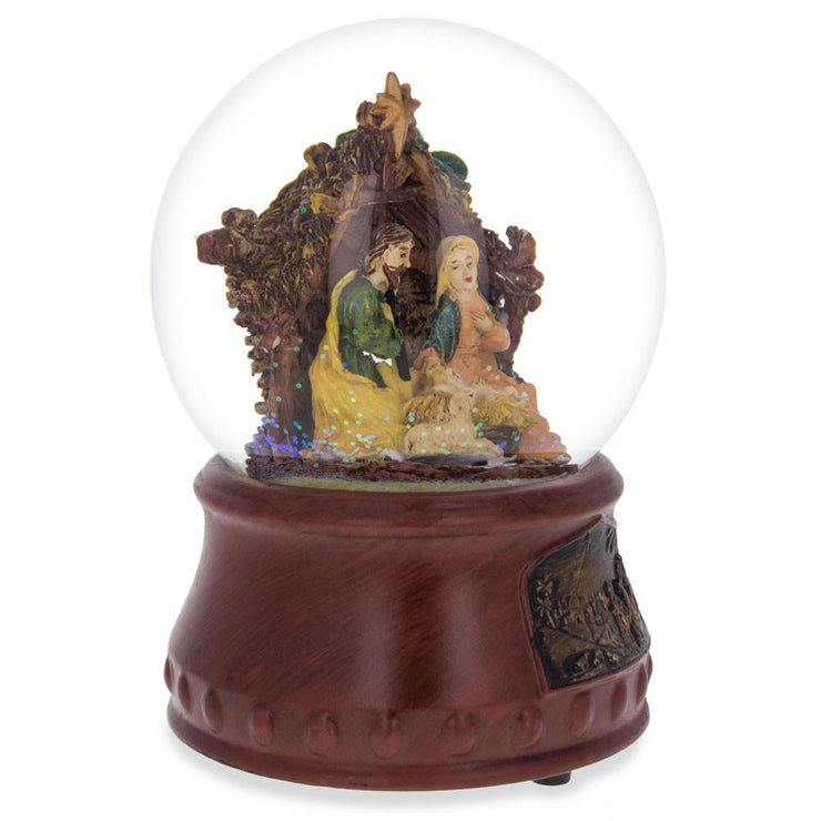 "Buy Online Gift Shop Nativity Scene with ""Silent Night"" Music Box Water Snow Globe"