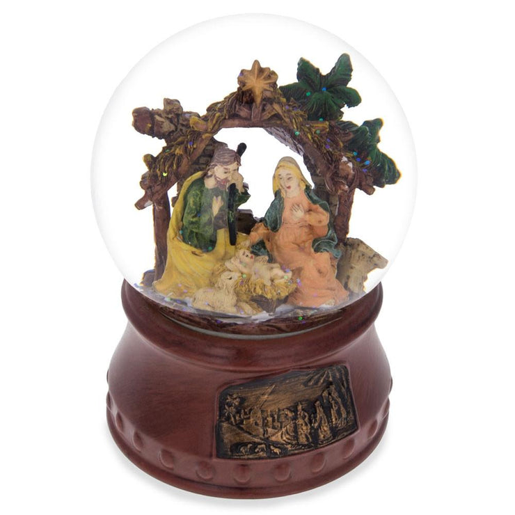 "Nativity Scene with ""Silent Night"" Music Box Water Snow Globe"