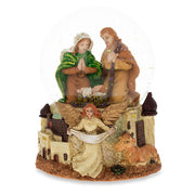 Nativity Scene with Guardian Angel Musical Snow Globe by BestPysanky