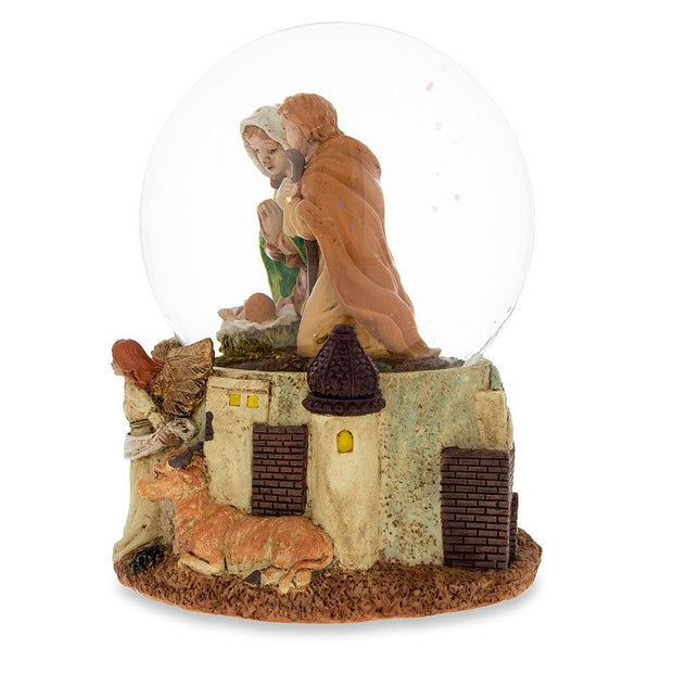 Buy Online Gift Shop Nativity Scene with Guardian Angel Musical Snow Globe