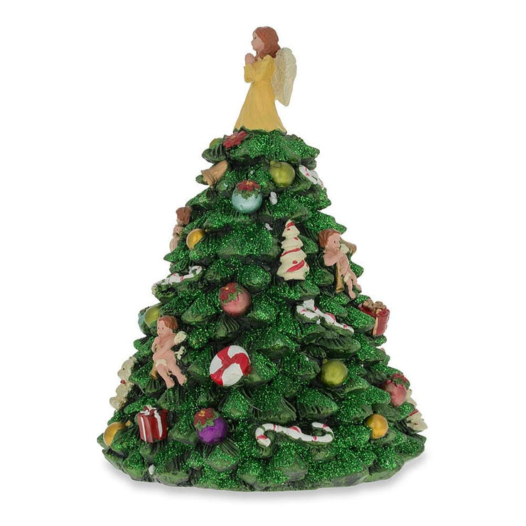 Buy Online Gift Shop Tabletop Christmas Tree with Angel Rotating Musical Figurine
