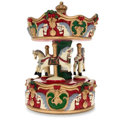 Carousel with Revolving Horses Musical Box Figurine by BestPysanky