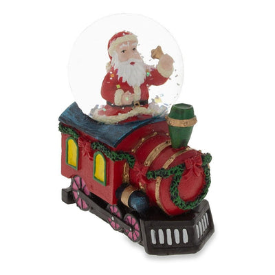 Santa Ringing a Bell on a Christmas Train Mini Water Snow Globe by BestPysanky