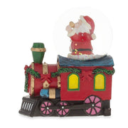 Santa Ringing a Bell on a Christmas Train Snow Globe by BestPysanky
