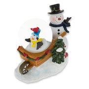 Snowman with Cheerful Penguin and Cardinal Water Globe by BestPysanky