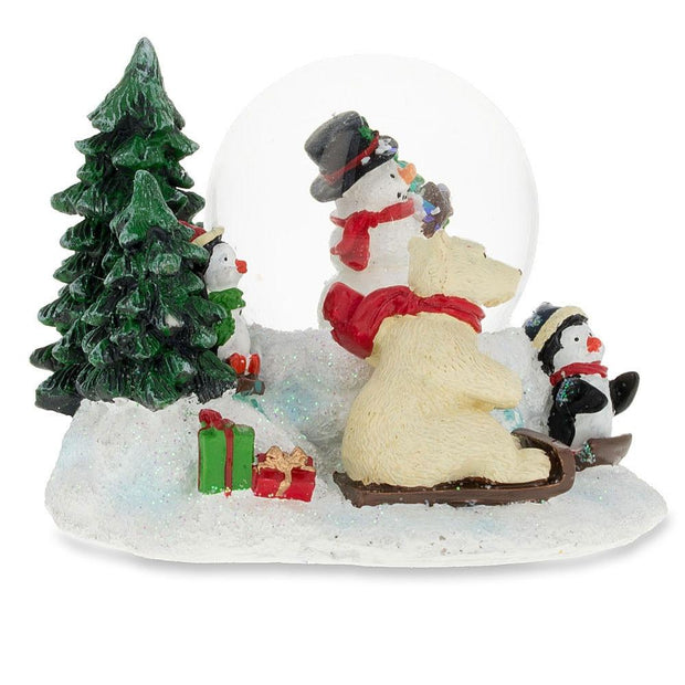 Buy Online Gift Shop Cheerful Snowman, Polar Bear and Penguins Mini Snow Globe