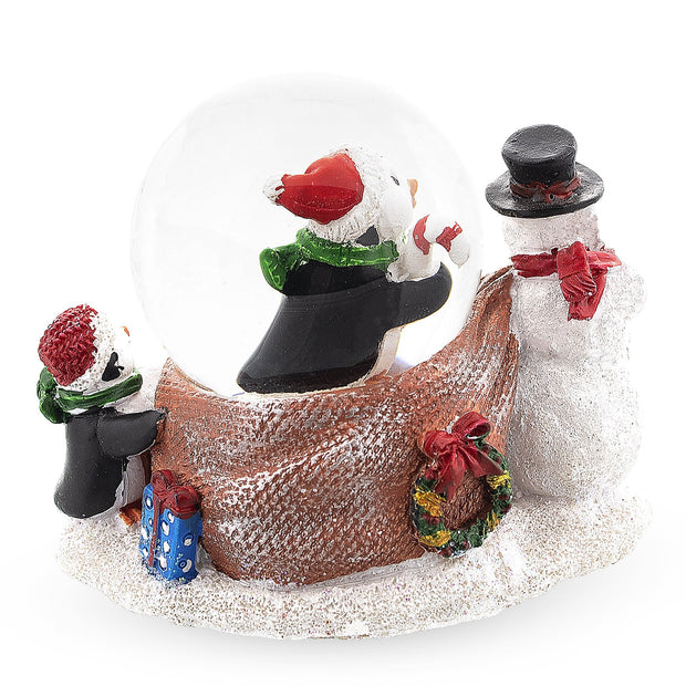 Snowman with Penguins Snow Globe