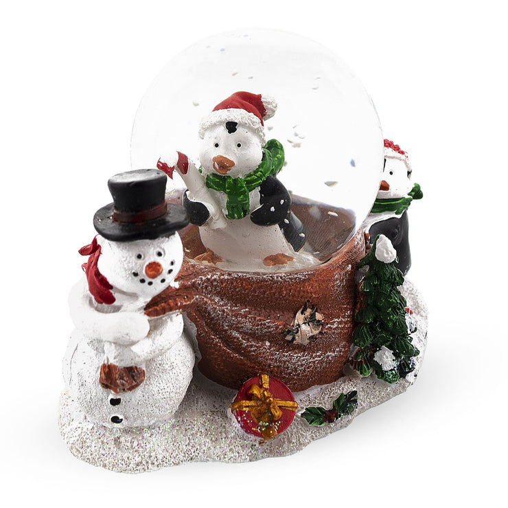 Snowman with Penguins Mini Water Snow Globe