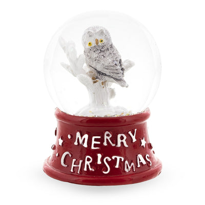 White Owl Mini Water Snow Globe by BestPysanky