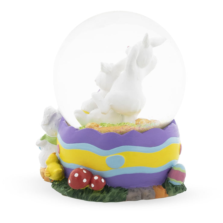 Buy Online Gift Shop Bunnies Decorating Easter Eggs Musical Water Snow Globe
