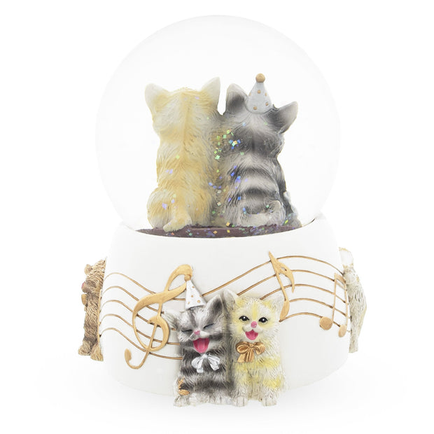 Singing Cats Party Snow Globe