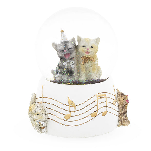 Cats Party Musical Water Snow Globe by BestPysanky
