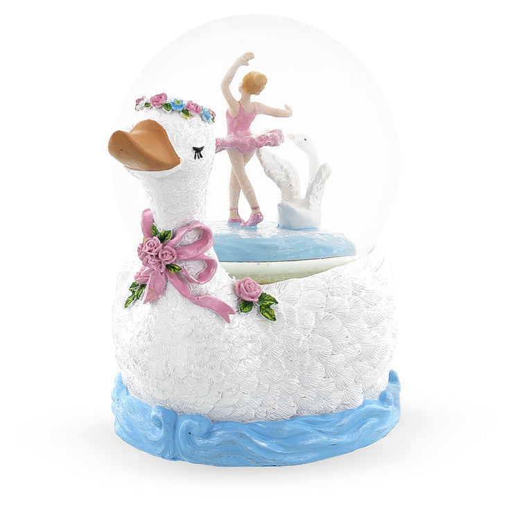 Swan Lake Ballet Musical Water Snow Globe